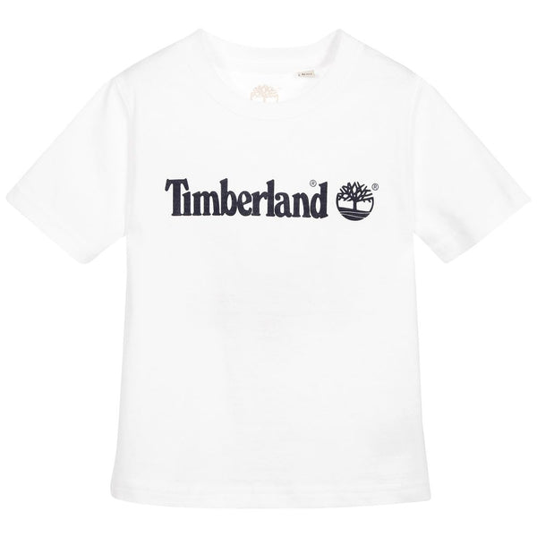 SS18 Timberland Boys White Classic Branded Top