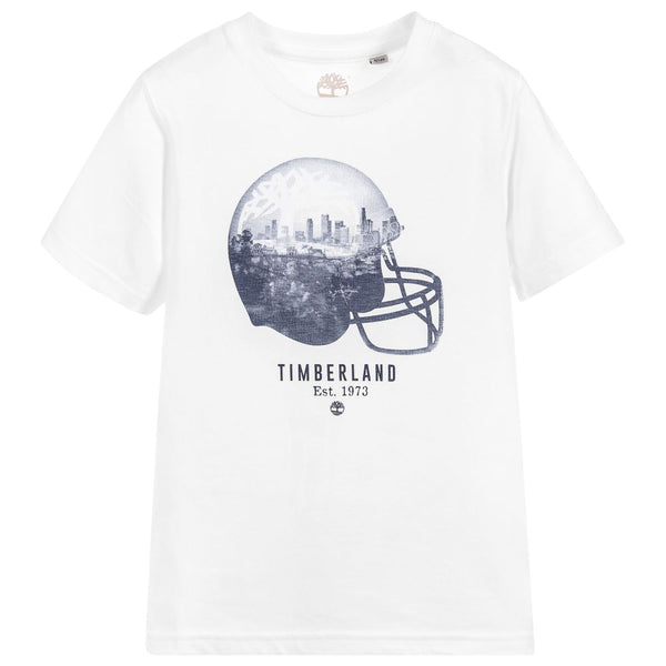 SS18 Timberland Boys White American Football Top