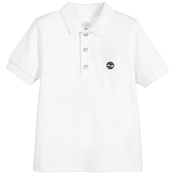 SS18 Timberland Boys Classic White Polo Top