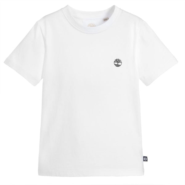 AW18 Timberland Boys White Short Sleeved Top
