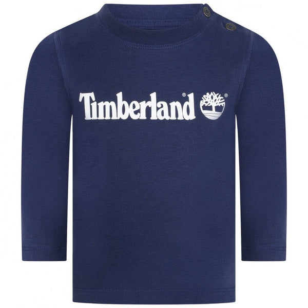 AW19 Timberland Baby Boys Navy Blue Logo Top