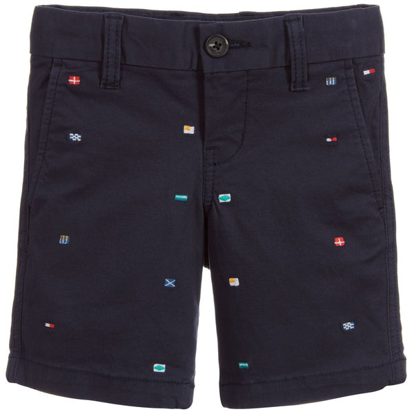 SS19 Tommy Hilfiger Boys Navy Blue Flag Shorts
