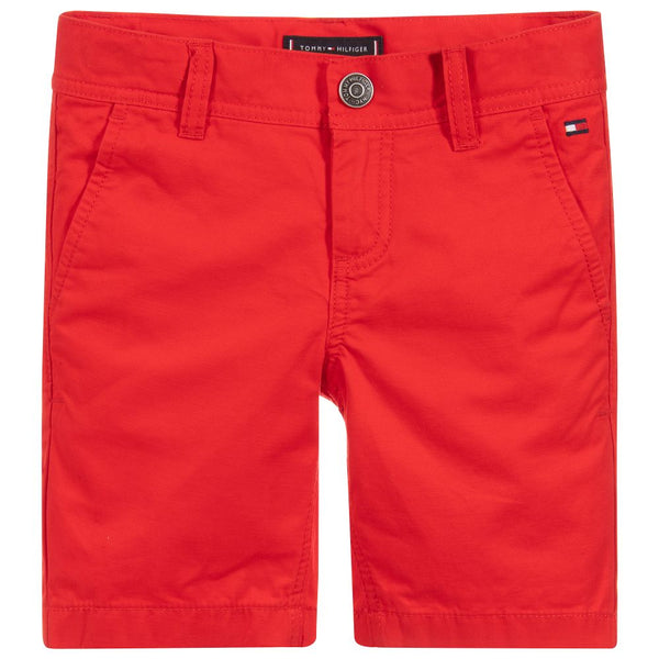 SS19 Tommy Hilfiger Boys Red Chino Shorts