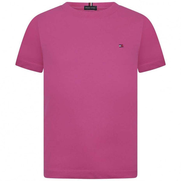 SS19 Tommy Hilfiger Boys Pink Organic Cotton T-Shirt