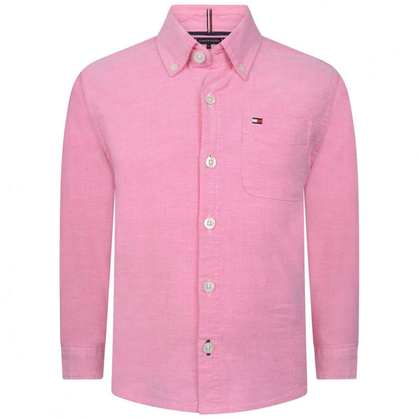 SS19 Tommy Hilfiger Boys Pink Oxford Shirt