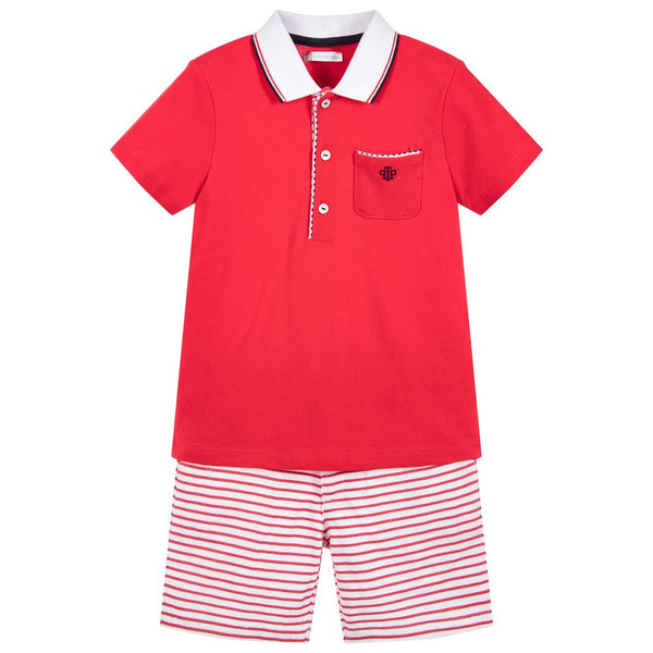 SS18 Tutto Piccolo Boys Red Shorts Set 4814 & 4314