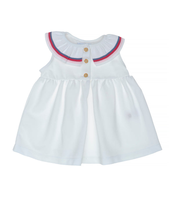 SS20 Laranjinha Girls White Tennis Dress V0426