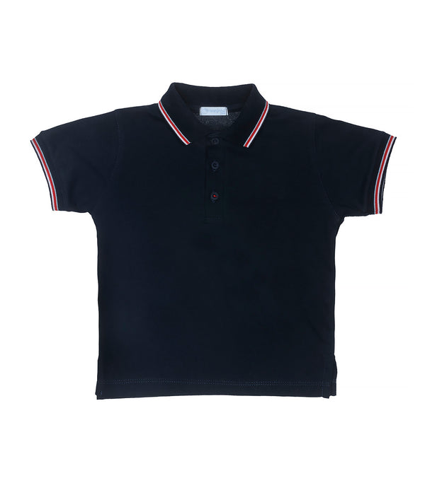 SS20 Laranjinha Boys Navy Blue Polo Top V0460