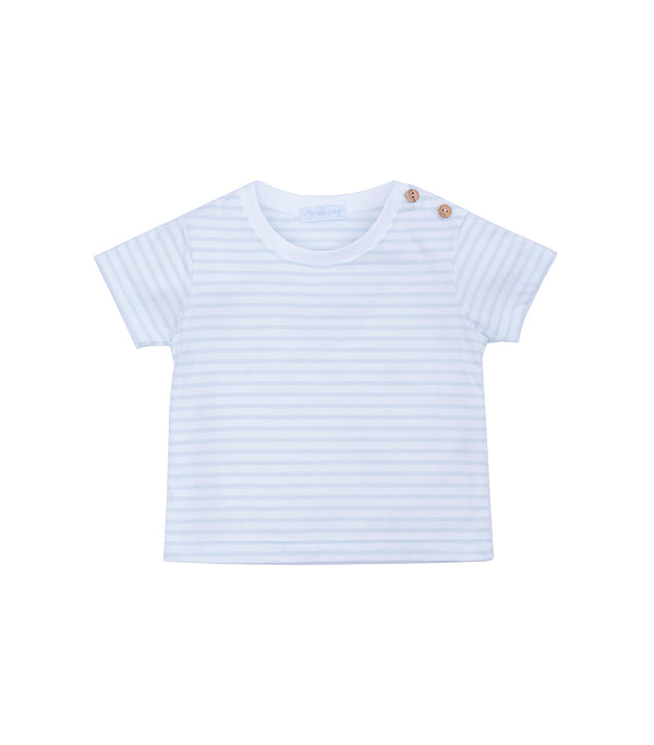 SS19 Laranjinha Toddler Boys Blue & White Top V9340