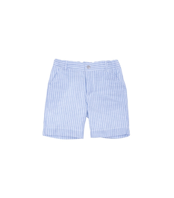 SS19 Laranjinha Boys Lavender Blue & White Stripe Shorts V9507
