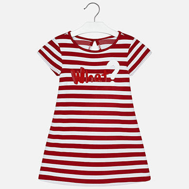 SS17 Mayoral Older Girls 'What ?' Jersey T-Shirt Playsuit 6947
