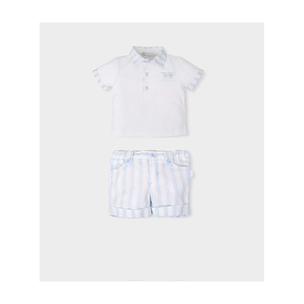 SS18 Tutto Piccolo Boys Blue & White Stripe Shorts Set 4817 & 4317
