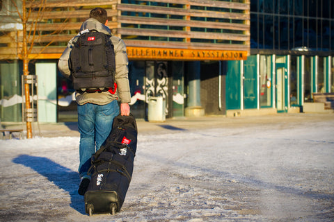 Ski bag on wheels