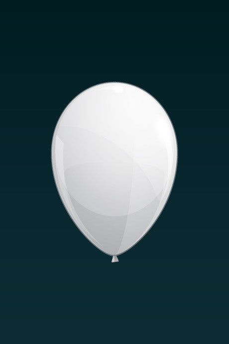 White, matte latex balloon