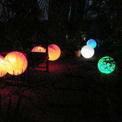 LED light-up balloon lamp with DMX control