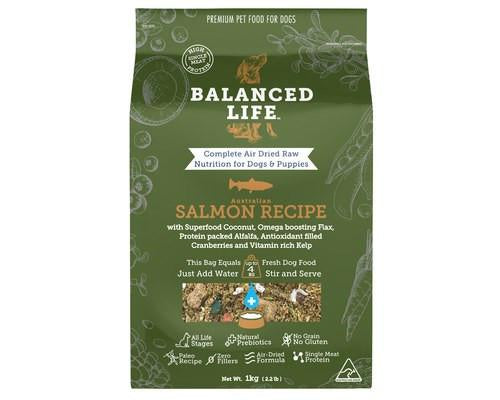 Balanced Life Air-Dried Raw Food for Dogs - Salmon Recipe