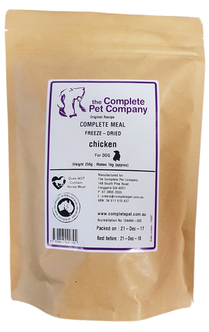 Complete Meal Freeze Dried For Dogs