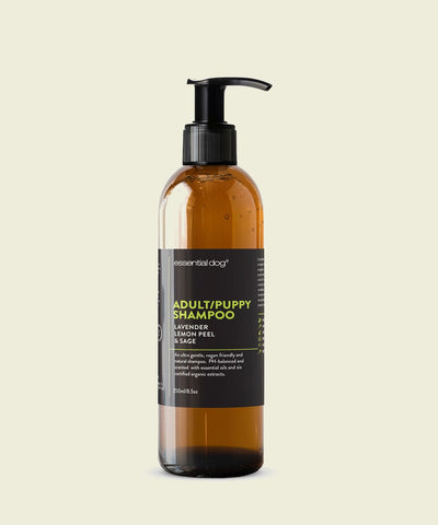 Natural Dog Shampoo: Lavender, Lemon Peel & Clary Sage For Puppies & Adults