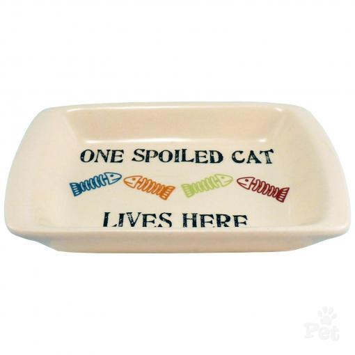 One Spoiled Cat Saucer