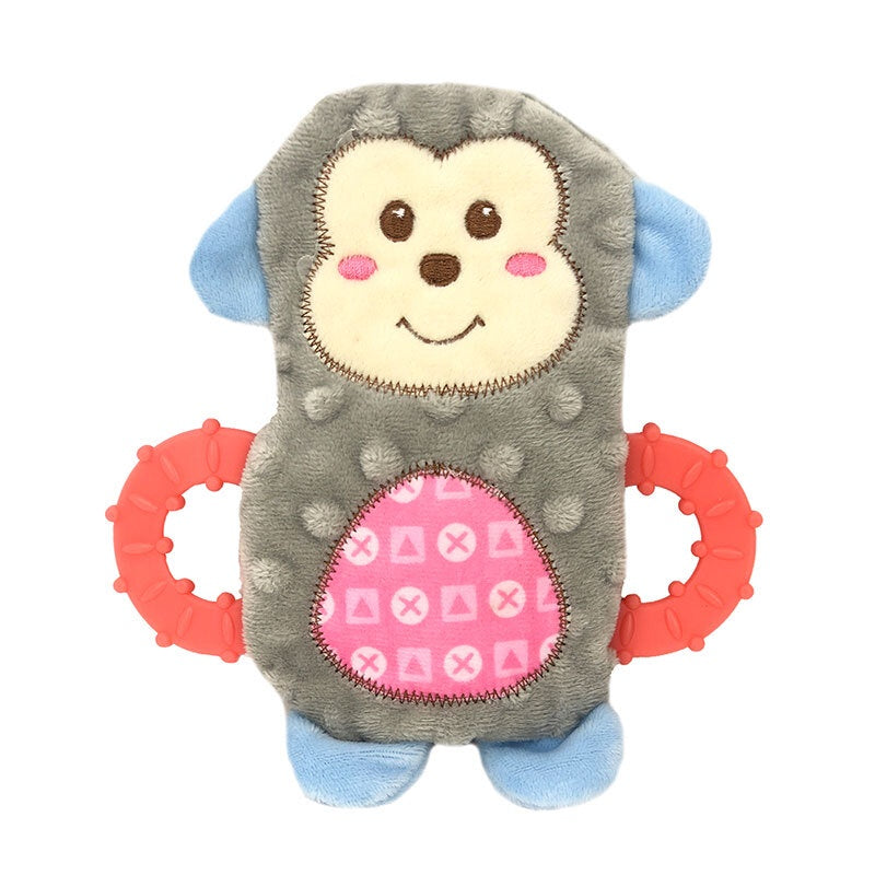 Snuggle Friends Puppy Monkey with Teether