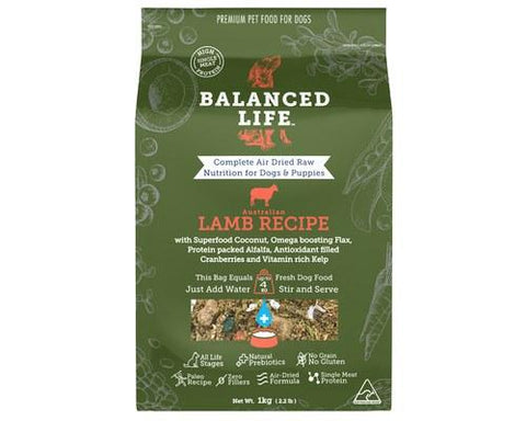 Balanced Life Air-Dried Raw Food for Dogs - Lamb Recipe