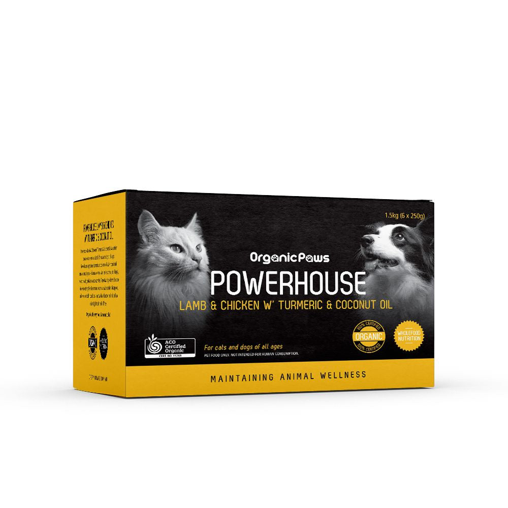 Organic Paws Powerhouse Lamb & Chicken w' Turmeric & Coconut Oil 1.5kg (local store pick-up only)