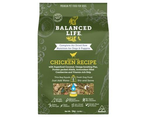 Balanced Life Air-Dried Raw Food for Dogs - Chicken Recipe