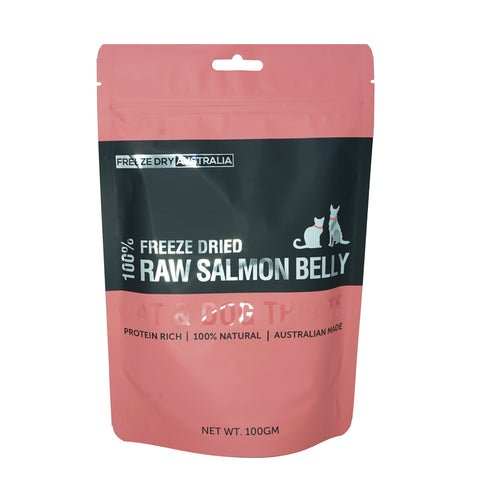 Freeze Dry Australia Salmon Belly 100g