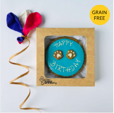 Happy Birthday Dog Biscuit Cake