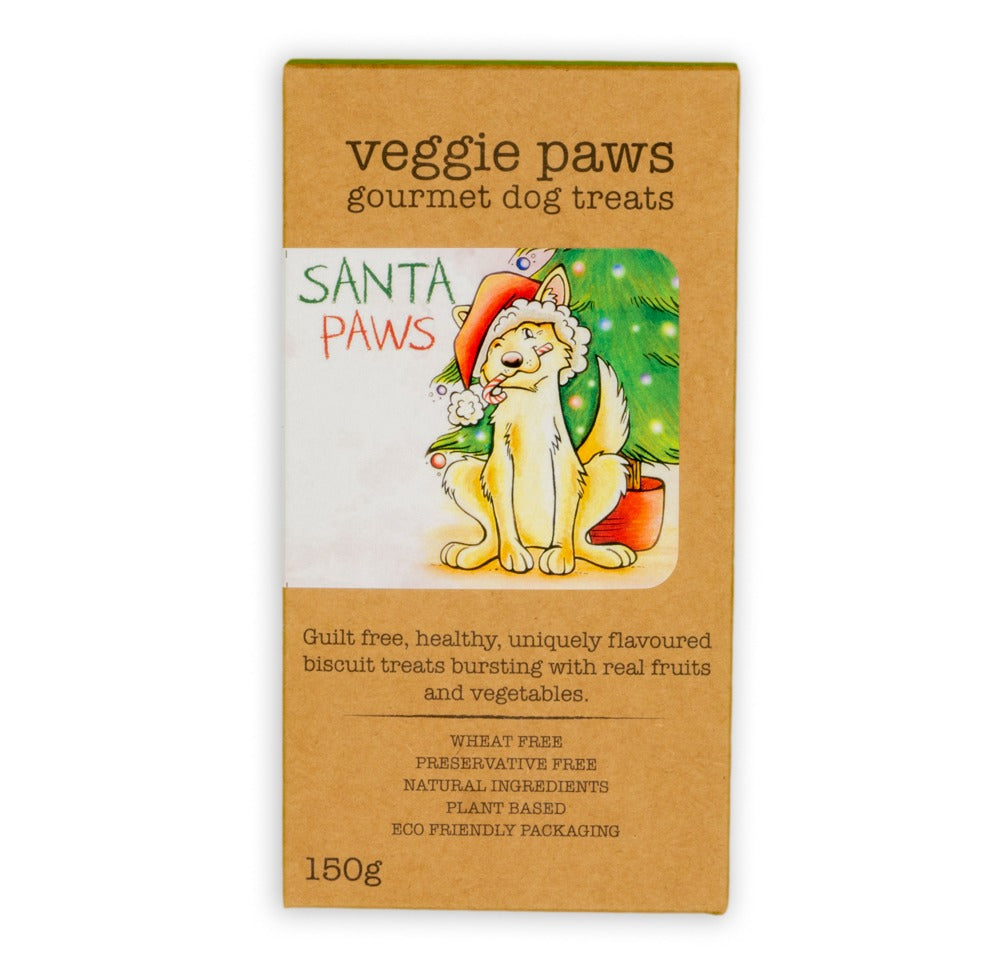 Red & Green Santa Paws Biscuits 150g