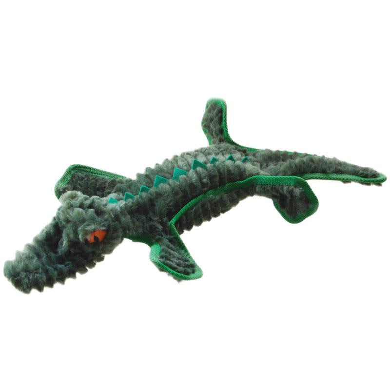 Ruff Play Plush Tuff Crocodile Flat