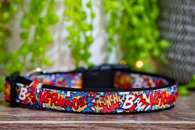 Pop Art Dog Collar