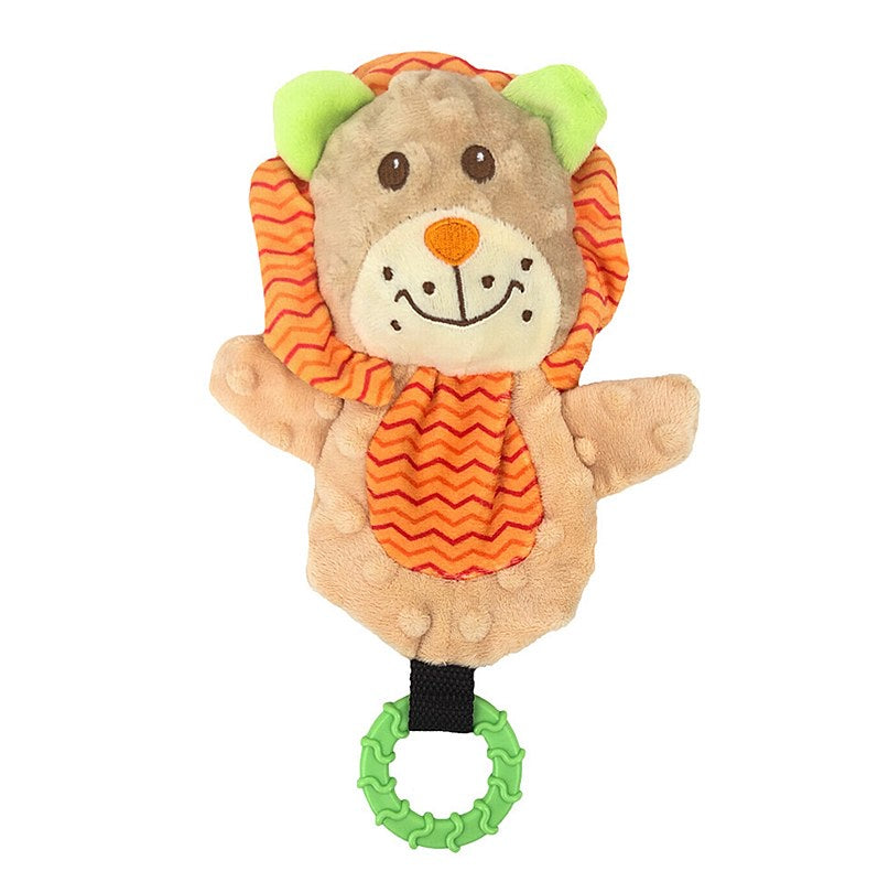 Snuggle Friends Puppy Lion with Teether