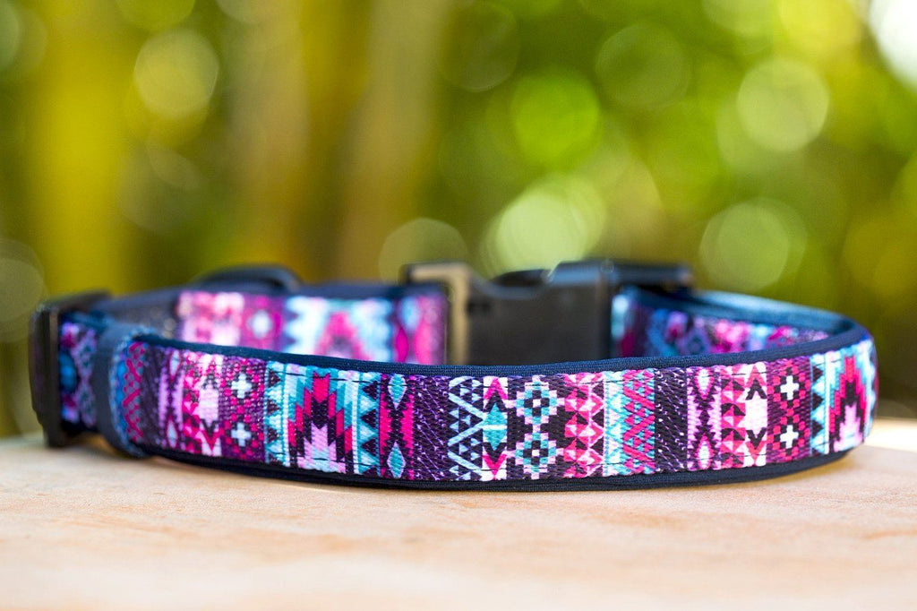 Purple Aztec Dog Collar