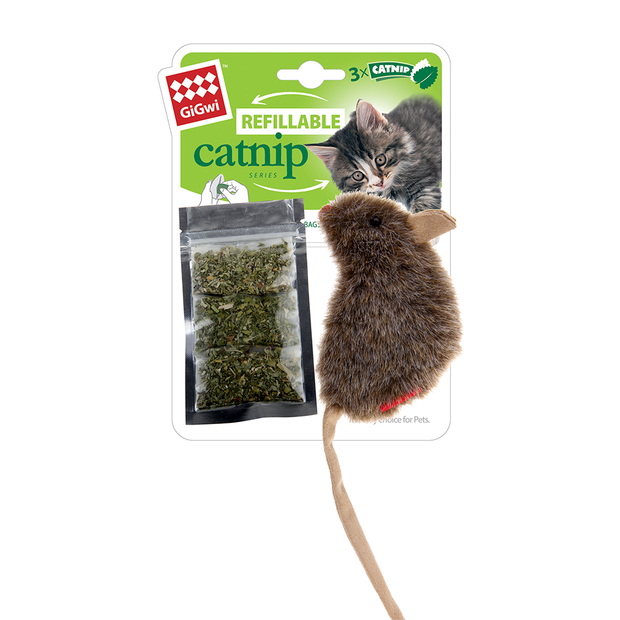 Refillable Catnip Mouse