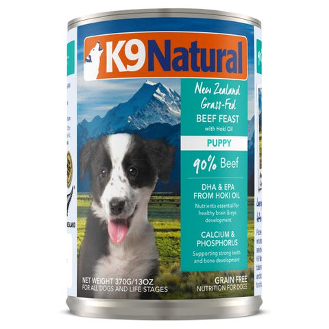 K9 Natural Beef Puppy Feast Canned 370g