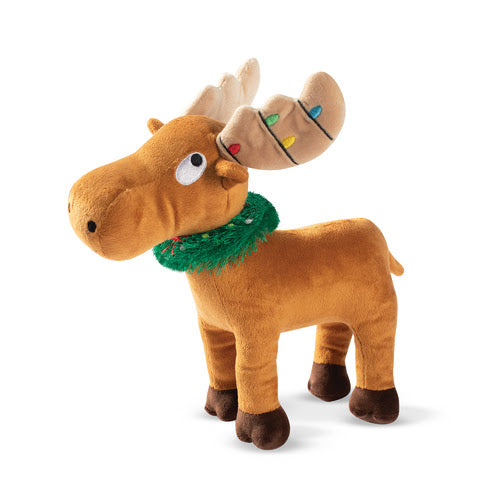 Merry Chrismoose Plush Dog Toy