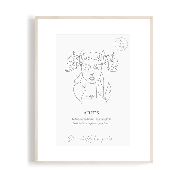 Aries - Zodiac Portrait A5