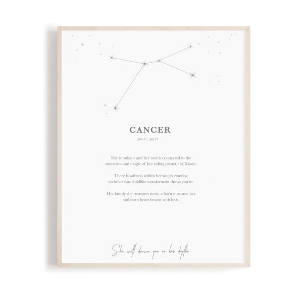Cancer - Zodiac Print