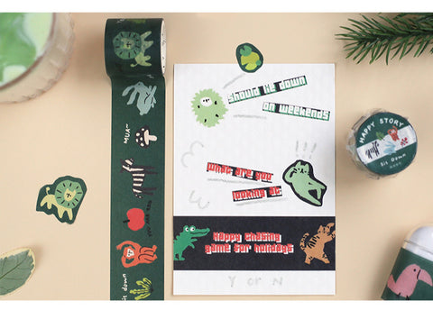 Interesting Forest Party Washi Tapes