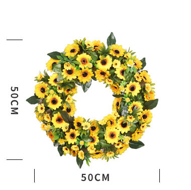 Country Artificial Sunflower Wreath