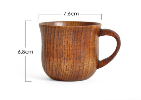 Jujube Wide Side Wooden Cup