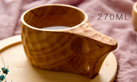 Turtle Back Pattern Wooden Cup
