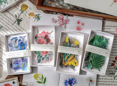 A Box of Plant Vintage Sticker Pack