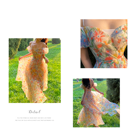 Floral Forest Fairy Long Dress