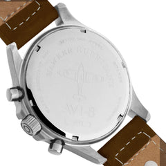AVI-8 AVI-8 Hawker Hurricane Men's Quartz Chronograph Watch with Brown Genuine Leather Strap AV-4013-SETA-01