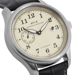AVI-8 AVI-8 Hawker Hurricane Men's Automatic Watch with Black Genuine Leather Strap AV-4017-02