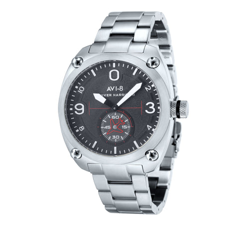 AVI-8 Men's AV-4026-11 Hawker Harrier II Stainless Steel Quartz Watch with Stainless Steel Bracelet