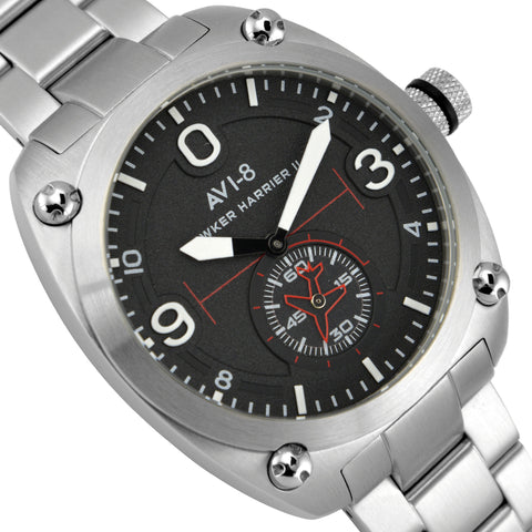 AVI-8 AVI-8 Hawker Harrier II Men's Quartz Watch with Stainless Steel Bracelet AV-4026-11