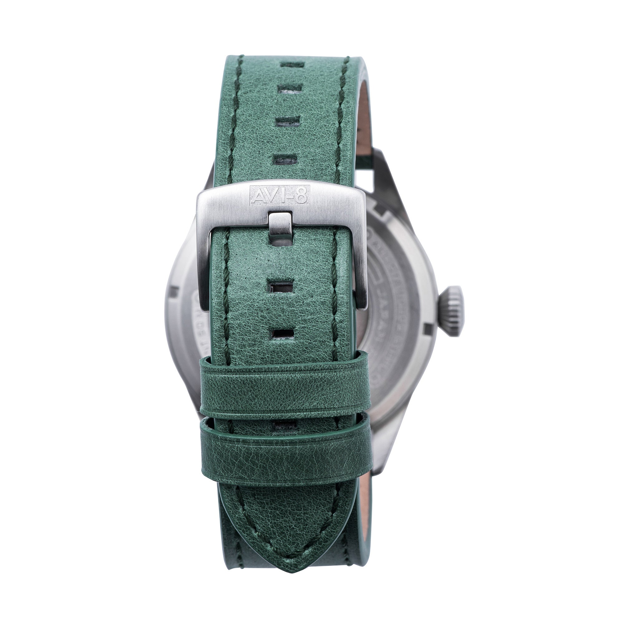 AVI-8 AVI-8 Hawker Harrier II Men's Automatic Watch with Army Green Genuine Leather Strap and Extra Nylon NATO Strap AV-4040-08